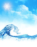 Water wave royalty free stock photography