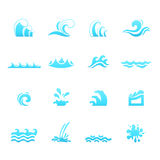Water wave icons Stock Image