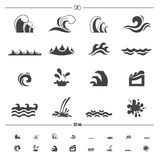 Water wave icons vector Stock Photography