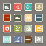 Water wave icons vector Royalty Free Stock Photo