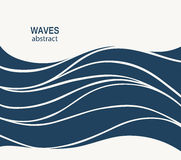 Water Wave Logo abstract design. Cosmetics Surf Sport Logotype c Royalty Free Stock Photography