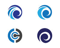 Water wave Logo Template Royalty Free Stock Image
