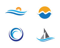 Water wave Logo Template Royalty Free Stock Photo