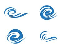 Water wave Logo Template Royalty Free Stock Photos