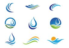 Water wave Logo Template royalty free illustration