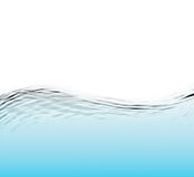 Water and wave over white background Stock Image