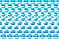 Water wave seamless patterns Royalty Free Stock Photo