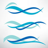 Water wave set of stylized vector symbol Stock Photos