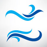 Water wave set of stylized vector symbols Royalty Free Stock Photography