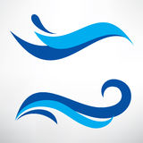 Water wave set of stylized vector symbols Royalty Free Stock Photos