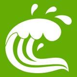 Water wave splash icon green Royalty Free Stock Image