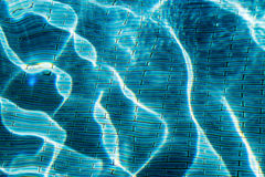 Water wave in swimming pool Royalty Free Stock Photo