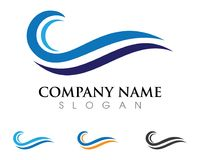 Water Wave symbol and icon Logo. Template vector Stock Photos