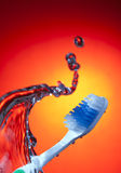 Water Wave Tooth Brush Royalty Free Stock Photos