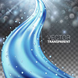 Water Wave. Vector Illustration Transparency Background Realistic Design Elements. Vector Illustration Stock Images