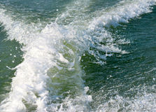 Water waves background photograph. Beautiful water waves blue background photograph royalty free stock photo