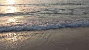 Water waves. In the beach stock footage