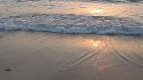 Water waves. In the beach stock video footage