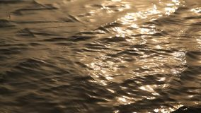 Water waves in daylight stock footage