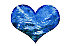 Water waves heart Stock Image