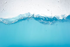 Water waves isolated Royalty Free Stock Photos