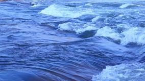 Water waves in moon light stock video footage