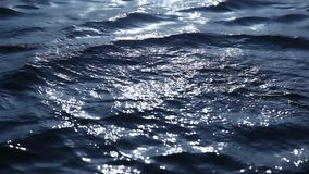 Water waves in the Moonlight.  stock footage