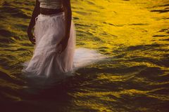Water, Waves, People, Woman, Dress Royalty Free Stock Photo