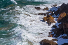 Water, waves and rocks Stock Photo