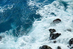Water, waves and rocks Stock Images