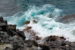 Water, waves and rocks Royalty Free Stock Photography