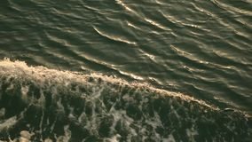 Water waves in the sea stock video footage