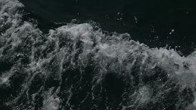 Water waves in the sea stock footage