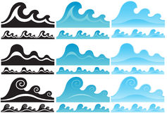 Water waves set Stock Photography