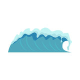 Water waves  vector illustration. Stock Photography