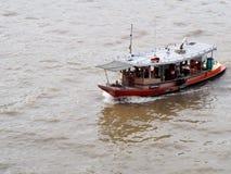 Water way CHAO PHRAYA river boat ship goods & person Transportation, BANGKOK, THAILAND. Stock Images