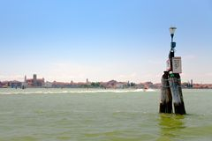 Water way in Venetian Lagoon Stock Photos