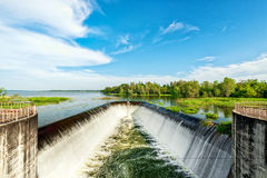 Water weir. In Rayong THAILAND Stock Image