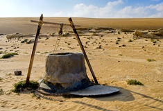 Water well in Desert stock photography