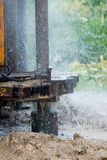 Water well. Details of the construction of a water well Royalty Free Stock Photography