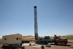 Water Well Drilling Royalty Free Stock Photography