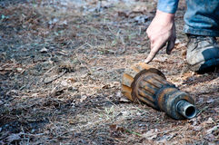 Water well drilling bit stock photos