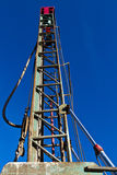 Water well drilling tower. Water well drilling rig in Texas Royalty Free Stock Image