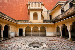 Water well inside the courtyard of great structure in Jaipur Stock Photography