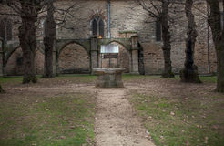 Water well in the park of a fort, Chateau De Dinan, Dinan, Cotes Stock Images