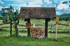 Water well. In the rice field Stock Photography