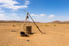 Water well in Sahara desert. Morocco, Africa Stock Image