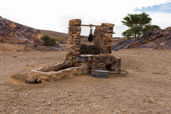 Water well in Sahara desert. Morocco, Africa Royalty Free Stock Image