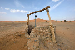 Water well in Sahara Desert, Morocco Stock Image