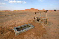 Water well in Sahara Desert, Morocco Stock Photography